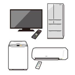 テレビ冷蔵庫洗濯機エアコンの不用品回収と買取サムネ