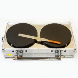 業務用 クレープ焼き器 2面 LPガス用